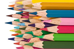 Multi-coloured pencils Stock Images