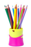 Multi-coloured pencils Royalty Free Stock Photography