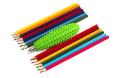 Multi-coloured  pencils, Back to school. Royalty Free Stock Photos