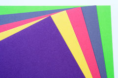 Multi-Coloured pieces of paper Royalty Free Stock Photos