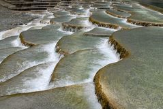 Multi-coloured Ponds. China's natural landscape in guizhou royalty free stock photography