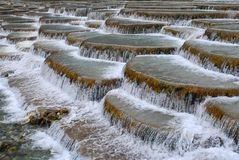 Multi-coloured Ponds. China's natural landscape in guizhou royalty free stock image