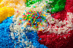 Multi-coloured rice Royalty Free Stock Photography