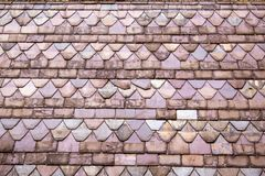 Multi-coloured roof tiles royalty free stock images