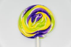 Multi coloured round lollipop Royalty Free Stock Photography