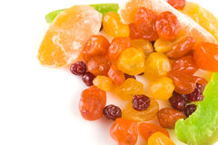 Multi-coloured slices of dried fruits Royalty Free Stock Images
