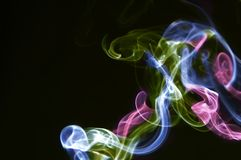 Multi-coloured smoke Royalty Free Stock Photo