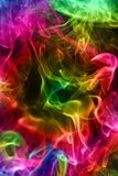 Multi-coloured smoke. Background. Stock Images