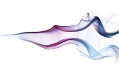 Multi coloured smoke trail Royalty Free Stock Images