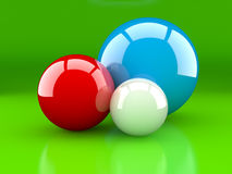 Multi-coloured spheres Royalty Free Stock Photography