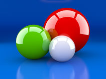 Multi-coloured spheres Stock Image