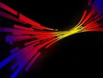 Multi-coloured spoor in een ruimte Royalty-vrije Stock Fotografie