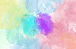 Multi-coloured Spot, Watercolour Abstract Stock Images