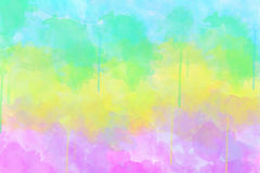Multi-coloured spot, watercolour abstract Royalty Free Stock Photography