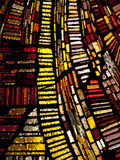 Multi Coloured Stained Glass. That can be found in most churches around Malta Royalty Free Stock Photography