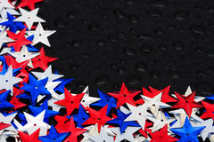 Multi Coloured Star Background Stock Image