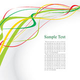 Multi-coloured strips. Multi-coloured wavy strips on a light background. Vector Stock Photography