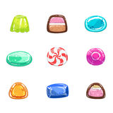 Multi-coloured Sweets Set Royalty Free Stock Images
