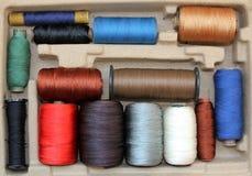 Multi-coloured threads Stock Image