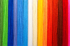 Multi-coloured threads of a wool. The picture is made in studio stock photo