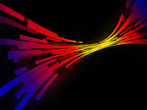 Multi-coloured track in a space. Abstract background with coloured stripes Royalty Free Stock Photography
