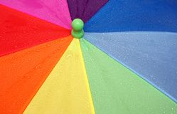 Multi-coloured umbrella. It is possible to use as a background Stock Photos