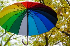 My umbrella is my own rainbow. Stock Photos