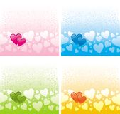Multi-coloured Valentines Stock Images