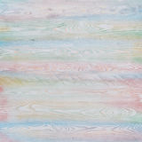 Multi-colours wooden background consisting of horizontal planks Royalty Free Stock Photography