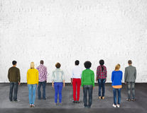 Multi concetto di lavoro di squadra di amicizia di etnia di diversità etnica Fotografie Stock