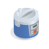 Multi cooker, crock-pot, multivarka  on the white. Flat 3d vector isometric illustration Royalty Free Stock Photos