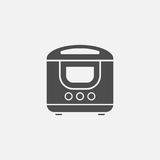 Multi cooker vector icon. On grey background Stock Photos