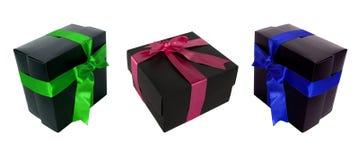 Multi cor e multi caixas de presente do ângulo para o designe Fotos de Stock Royalty Free