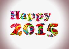 Multi cor feliz de 2015 faixas coloridas do tear Fotografia de Stock