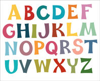 Multi cores do alfabeto inglês Foto de Stock