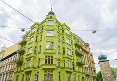 Multi costruzioni della città di storia di stile tradizionale Fotografie Stock