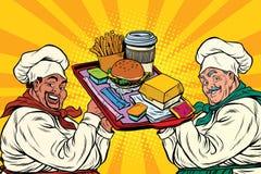 Multi cozinheiros étnicos, fast food Fotografia de Stock Royalty Free