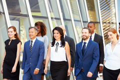 Multi-Cultural Business Team Outside Modern Office Stock Photo