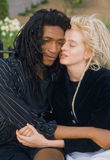 Multi-cultural couple together. Close-up of multi-cultural couple wearing dreadlocks, New York Royalty Free Stock Image