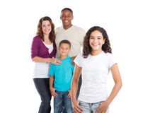 Multi cultural Family. Happy multi cultural family of four studio portrait Royalty Free Stock Photos