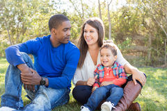 Multi cultural family Royalty Free Stock Images