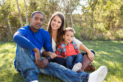 Multi cultural family Royalty Free Stock Photo
