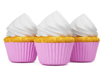 Multi cupkace da cor isolado no fundo branco 3d rendem Fotos de Stock