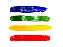 Multi cursos coloridos da escova de pintura Fotografia de Stock