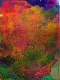 Multi de textuurachtergrond van de kleurenverf stock illustratie