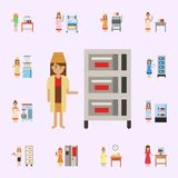 Multi deck, bakery color icon. Bakery icons universal set for web and mobile royalty free illustration