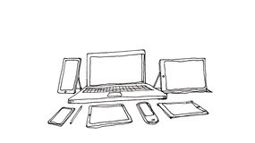Multi devices, technology concept illustration Stock Images