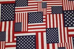 Multi-Directional American Flags Royalty Free Stock Image