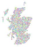 Multi Dot Scotland Map colorato illustrazione di stock