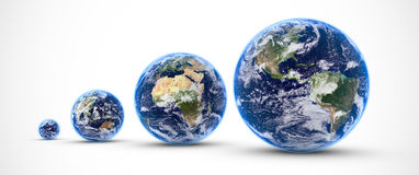 Multi earths stock illustration
